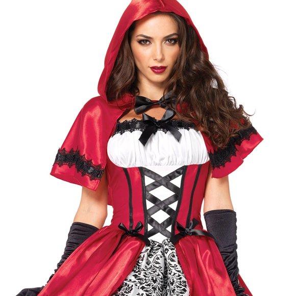 Leg Avenue Womens Gothic Red Riding Hood Costume